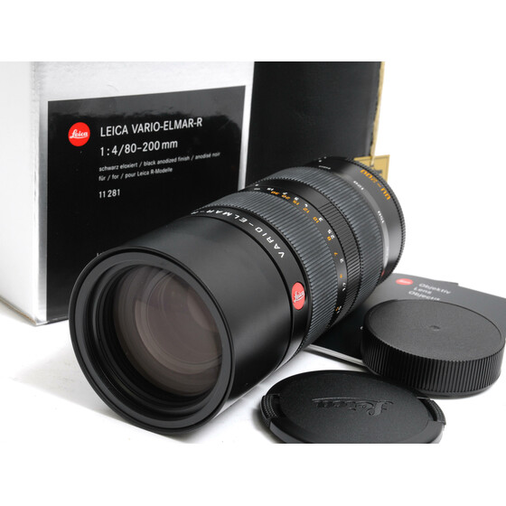Leica Vario-Elmar-R 1:4/80-200mm ROM  boxed  for Leica R-Modelle warranty card
