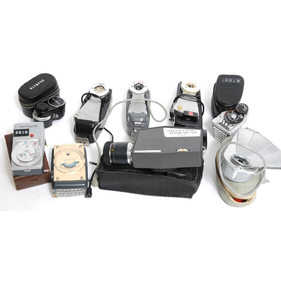Konvolut of 26 x vintage Light Meter and Flash divers brands
