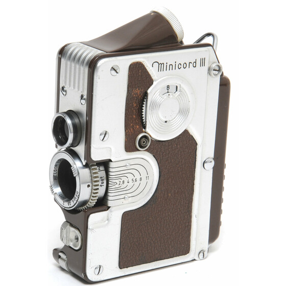 Goerz Minicord III brown  Helgor 1:2 f= 2,5 cm Subminiature TLR camera