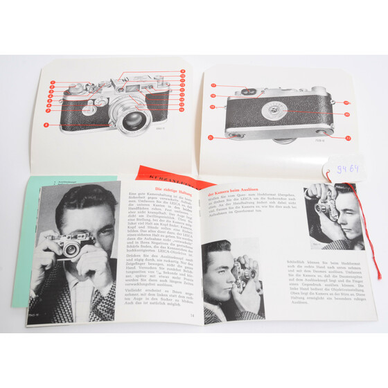 Vintage instruction book Leica IIIg 27 pages in Book Jacket 11-21 in german 1976