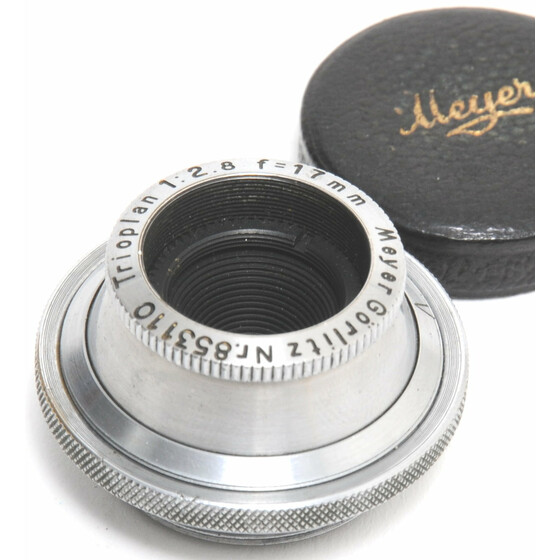 Meyer Görlitz Trioplan 2.8/17mm lens C Mount M25 for Bolex 16mm