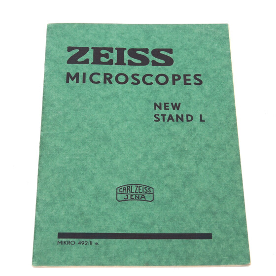 Zeiss Jena Microscopes New Stand L Micro 492/II e. brochure booklet 1936 Germany