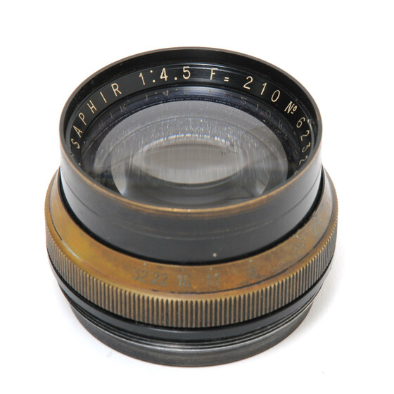 Boyer Paris Saphir 4.5/210mm lens Brass Lens Largeformat