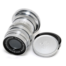 Carl Zeiss Jena Triotar 4/8,5cm lens early version chrome...