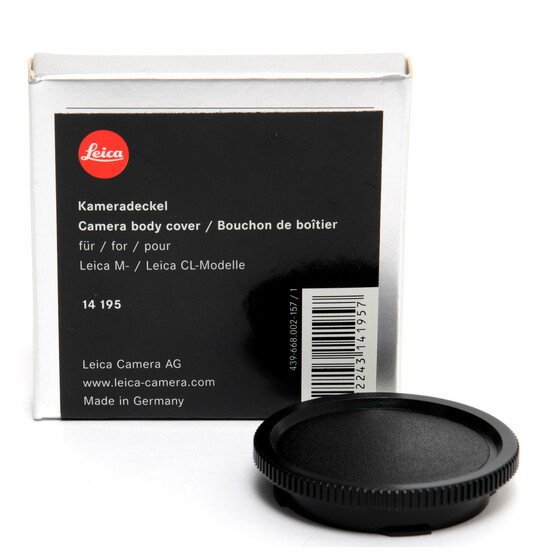 Leica M  camera body cover cap original boxed 14195 mint condition