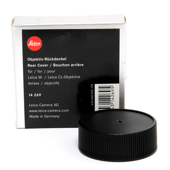 Leica M  CL Lens Rear Cover Cap original boxed 14269 mint condition