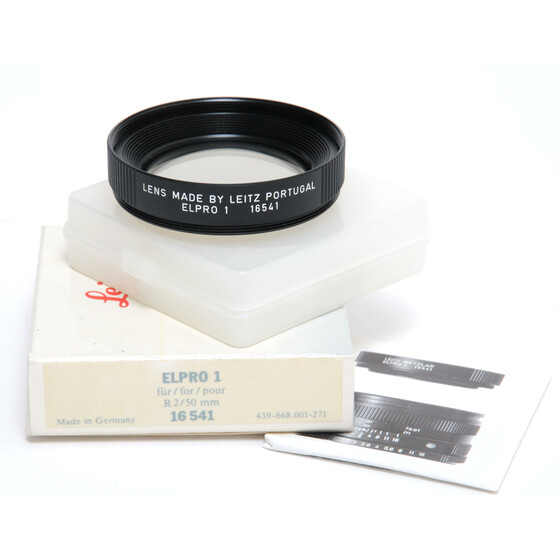 Leica Leitz Elpro 1 Close-up lens filter boxed 16541 for R 2/50 Lenses mint condition