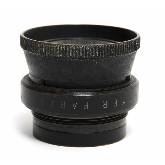 Boyer Paris Saphir B  3,5/75mm brass lens w. aperture