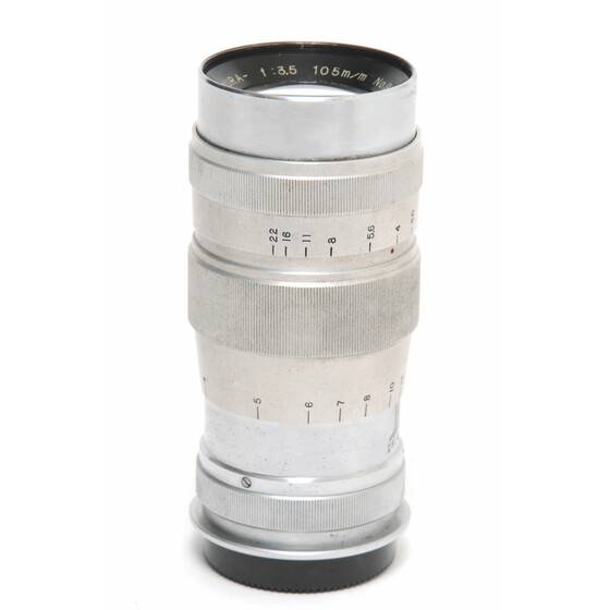Komura 3,5/105mm lens chrome for Leica Screw Mount