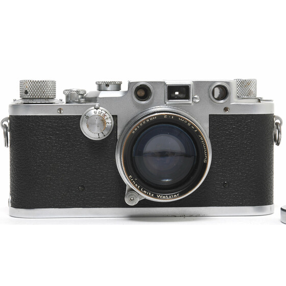 Vintage Leica III c camera lucky Sernr. 420888 w. Summitar 2/5cm full working