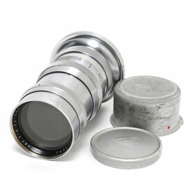 Zeiss Jena Sonnar 4/13,5cm Chrome Lens for Contax II with...