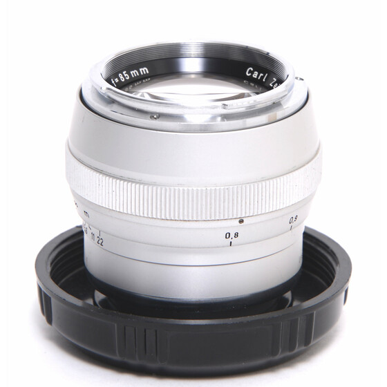 Zeiss for Contarex  Sonnar 2/85mm chrome lens Clean Glass