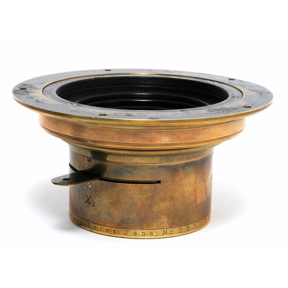Carl Zeiss Jena Apochromat-Tessar 1:10  f= 46cm Brass Lens w. Flange and Wet Plate