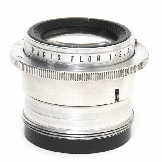 Rare Som Berthiot Paris Flor 2,8/75mm lens chrome