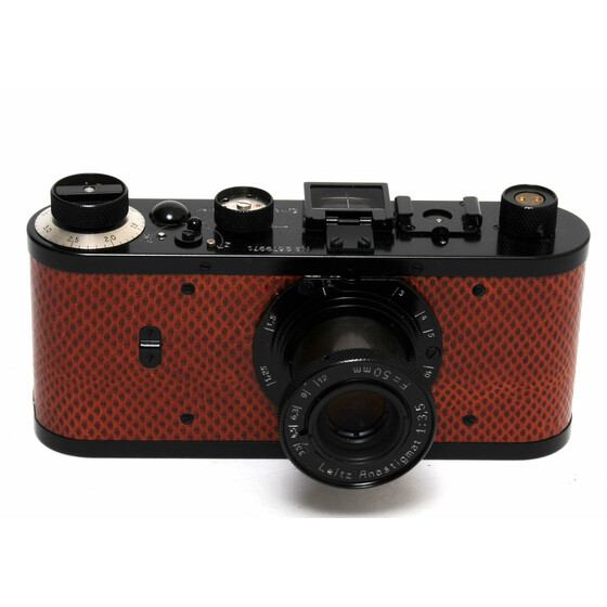 Leica 0 - Series camera Replica w. Anastigmat 3,5/50mm Lizard Leather limited edition