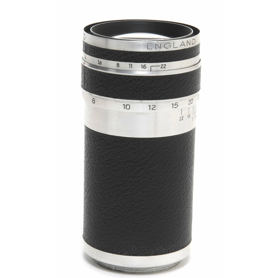 Corfield Periflex Lumar 1:4/100mm lens for Leica Screw Mount M39 boxed w.Viewfinder