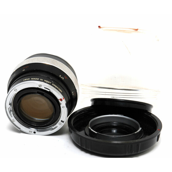 Zeiss for Contarex Planar 1,4/55mm lens black West Germany clean glass
