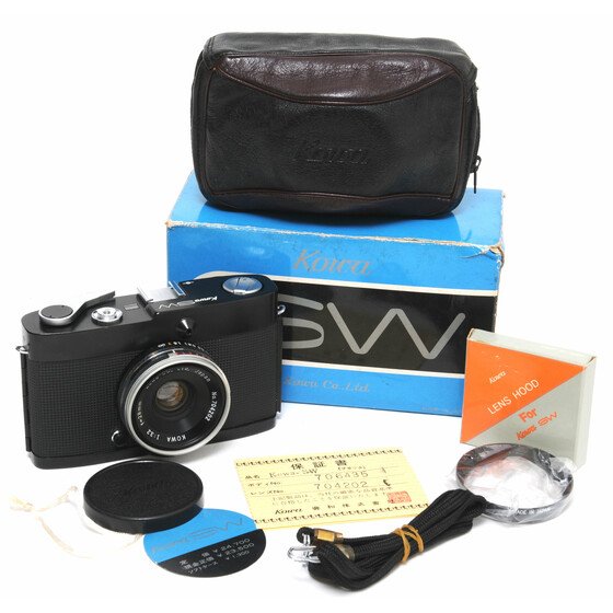 Kowa SW black paint Film Camera w. 3.2/28 mm Lens RARE Mint boxed