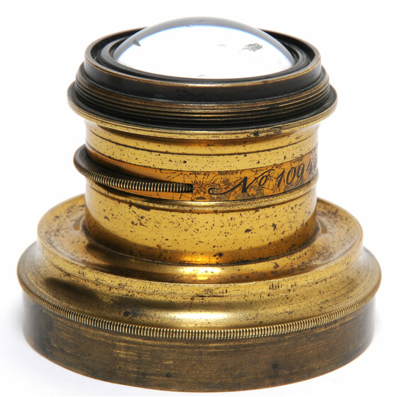 Liesegang Germany Brass Wide Angle lens ca.1880.