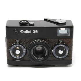 Rollei 35 black brown leather