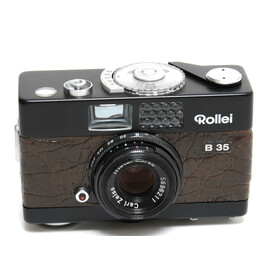 Rollei B35 Prototype black with brown leather