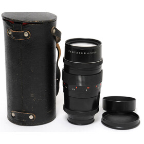 Pentacon f. M42 4/200mm with leather case