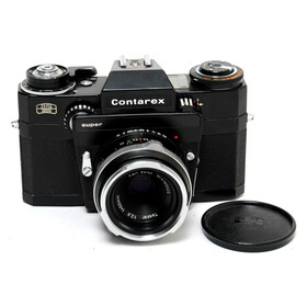 Contarex Super black paint with Zeiss Tessar 2.8/50mm,...
