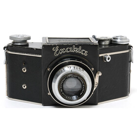 Exakta B for 127 Film with Jhagee Anast. Exaktar 3.5/7.5cm, Shutter deffect